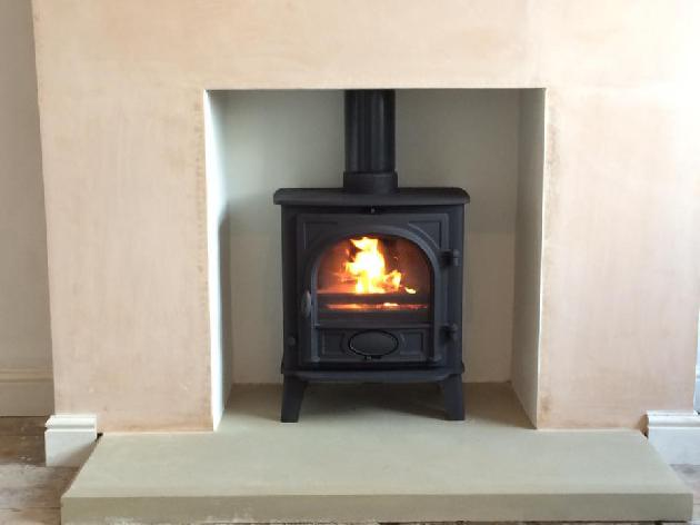 Gas fire installation in Accrington